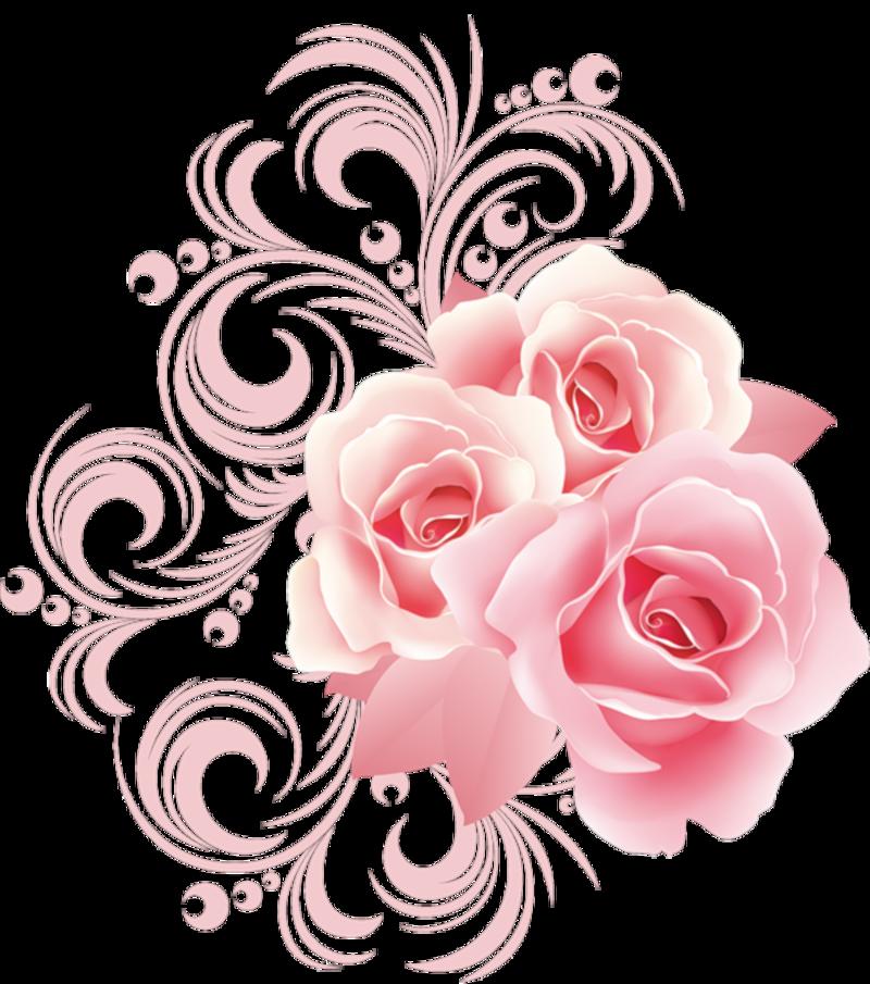 Arabesque de roses - Roses dessins ...